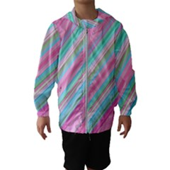 Background Texture Pattern Hooded Wind Breaker (kids)