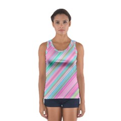 Background Texture Pattern Sport Tank Top