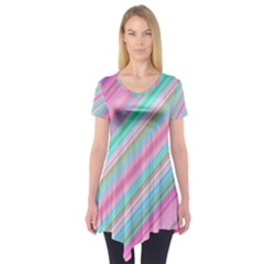Background Texture Pattern Short Sleeve Tunic