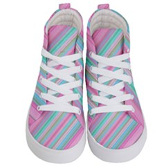 Background Texture Pattern Kid s Hi Top Skate Sneakers