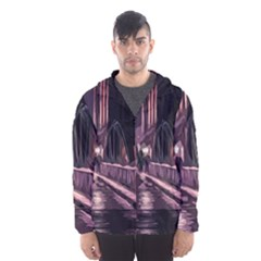 Texture Abstract Background City Hooded Wind Breaker (men)