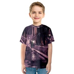 Texture Abstract Background City Kids  Sport Mesh Tee