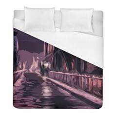 Texture Abstract Background City Duvet Cover (full/ Double Size)