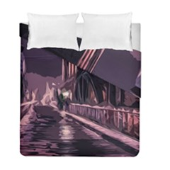 Texture Abstract Background City Duvet Cover Double Side (full/ Double Size)