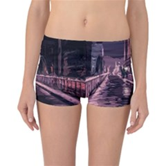 Texture Abstract Background City Reversible Boyleg Bikini Bottoms