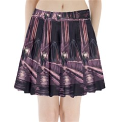 Texture Abstract Background City Pleated Mini Skirt