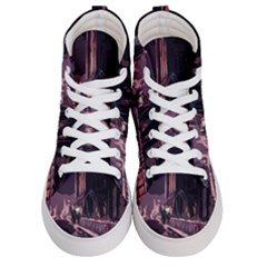 Texture Abstract Background City Women s Hi Top Skate Sneakers