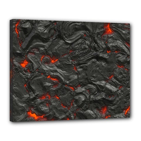 Rock Volcanic Hot Lava Burn Boil Canvas 20  X 16