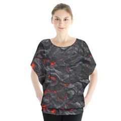 Rock Volcanic Hot Lava Burn Boil Blouse