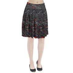 Rock Volcanic Hot Lava Burn Boil Pleated Skirt