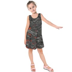 Rock Volcanic Hot Lava Burn Boil Kids  Sleeveless Dress