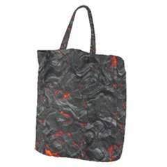 Rock Volcanic Hot Lava Burn Boil Giant Grocery Zipper Tote by Nexatart