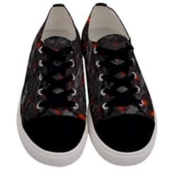 Rock Volcanic Hot Lava Burn Boil Men s Low Top Canvas Sneakers