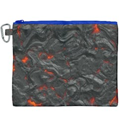 Rock Volcanic Hot Lava Burn Boil Canvas Cosmetic Bag (xxxl) by Nexatart