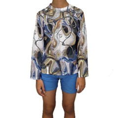 Time Abstract Dali Symbol Warp Kids  Long Sleeve Swimwear
