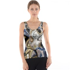 Time Abstract Dali Symbol Warp Tank Top