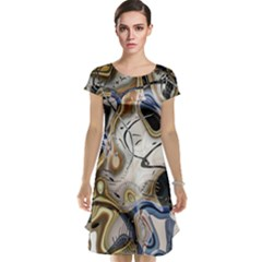 Time Abstract Dali Symbol Warp Cap Sleeve Nightdress