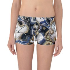 Time Abstract Dali Symbol Warp Reversible Boyleg Bikini Bottoms