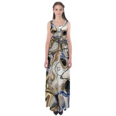 Time Abstract Dali Symbol Warp Empire Waist Maxi Dress
