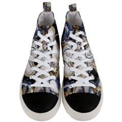 Time Abstract Dali Symbol Warp Men s Mid Top Canvas Sneakers