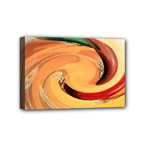 Spiral Abstract Colorful Edited Mini Canvas 6  X 4