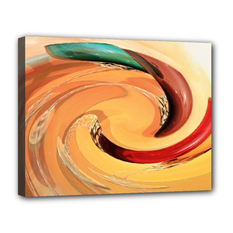 Spiral Abstract Colorful Edited Canvas 14  X 11