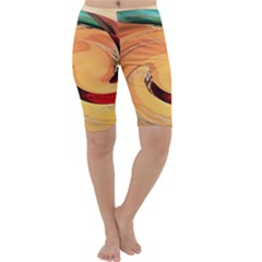 Spiral Abstract Colorful Edited Cropped Leggings