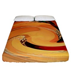 Spiral Abstract Colorful Edited Fitted Sheet (california King Size)