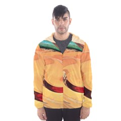 Spiral Abstract Colorful Edited Hooded Wind Breaker (men)