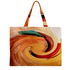 Spiral Abstract Colorful Edited Zipper Mini Tote Bag