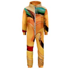 Spiral Abstract Colorful Edited Hooded Jumpsuit (men)