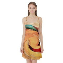 Spiral Abstract Colorful Edited Satin Night Slip
