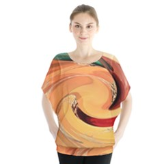 Spiral Abstract Colorful Edited Blouse