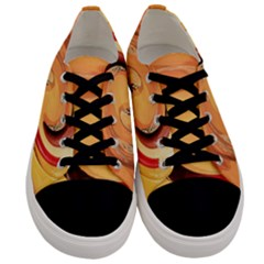 Spiral Abstract Colorful Edited Men s Low Top Canvas Sneakers
