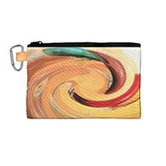 Spiral Abstract Colorful Edited Canvas Cosmetic Bag (medium) by Nexatart