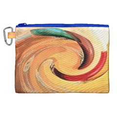 Spiral Abstract Colorful Edited Canvas Cosmetic Bag (xl) by Nexatart