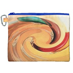 Spiral Abstract Colorful Edited Canvas Cosmetic Bag (xxl) by Nexatart
