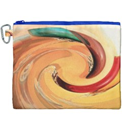 Spiral Abstract Colorful Edited Canvas Cosmetic Bag (xxxl) by Nexatart