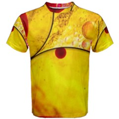 Abstract Water Oil Macro Men s Cotton Tee