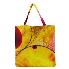 Abstract Water Oil Macro Grocery Tote Bag