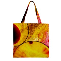 Abstract Water Oil Macro Zipper Grocery Tote Bag