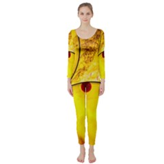 Abstract Water Oil Macro Long Sleeve Catsuit