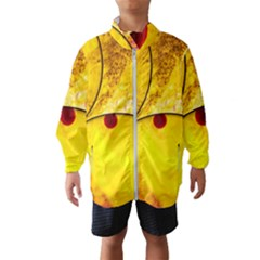 Abstract Water Oil Macro Wind Breaker (kids)
