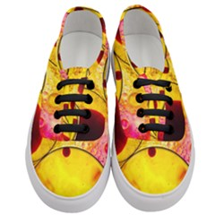 Abstract Water Oil Macro Women s Classic Low Top Sneakers