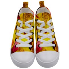 Abstract Water Oil Macro Kid s Mid Top Canvas Sneakers