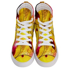 Abstract Water Oil Macro Men s Hi Top Skate Sneakers