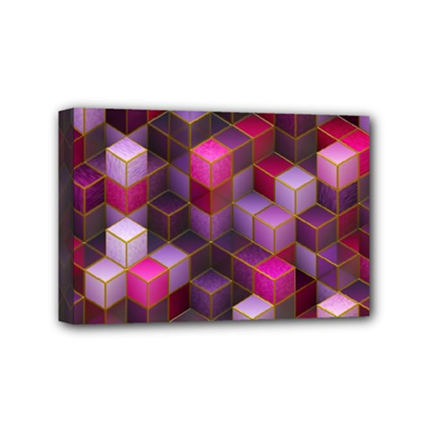 Cube Surface Texture Background Mini Canvas 6  X 4