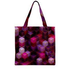 Cube Surface Texture Background Grocery Tote Bag