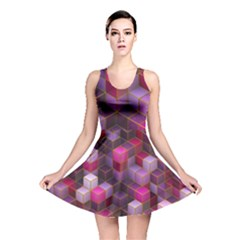 Cube Surface Texture Background Reversible Skater Dress