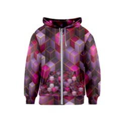Cube Surface Texture Background Kids  Zipper Hoodie
